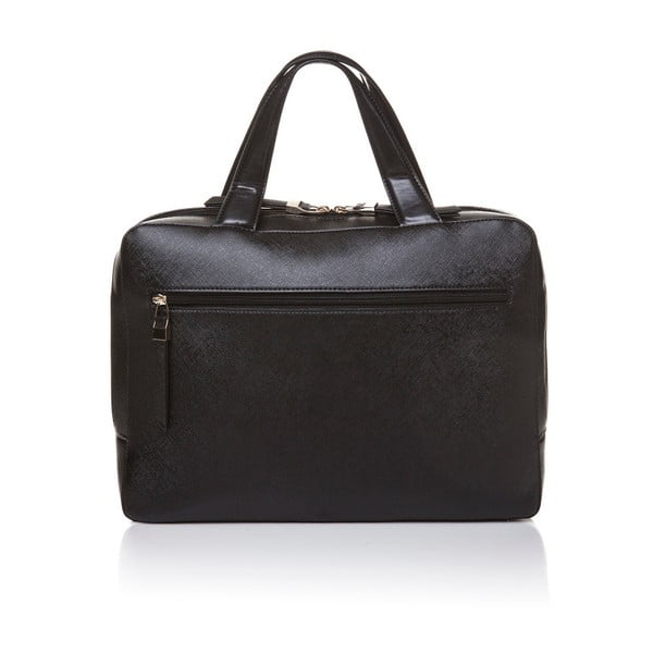 Skórzana torebka do ręki Marta Ponti Bowling, czarna