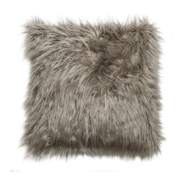 Poduszka Faux Fur Grey, 45x45 cm