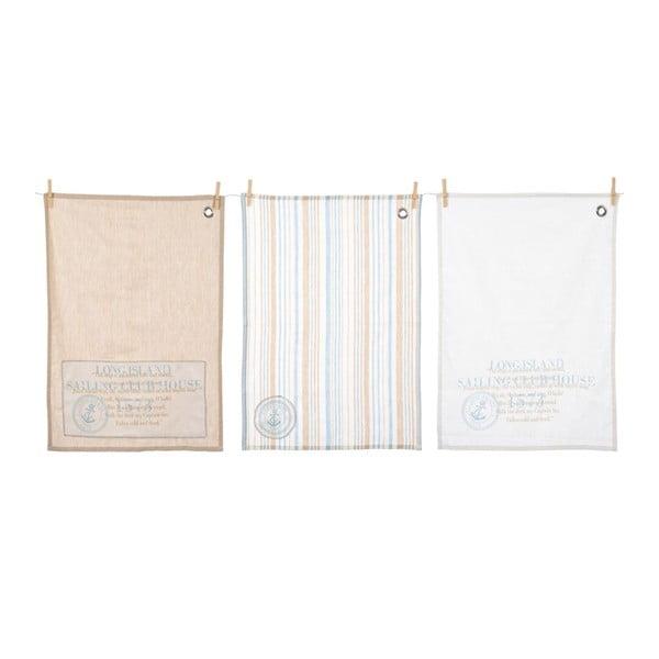 Ściereczki kuchenne Stripe Cott, 3 szt., 50x70 cm