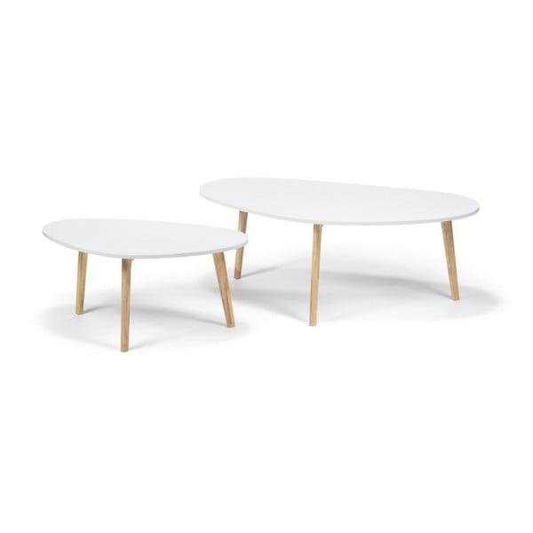 Biały stolik loomi.design Skandinavian, dł. 120 cm