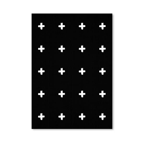 Plakat Crosses On Black