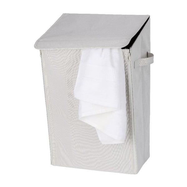 Beżowy wiszący kosz na pranie z przyssawkami Wenko Turbo-Loc, 46,3 l
