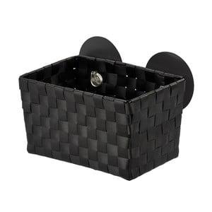 Czarny koszyk z przyssawkami Wenko Fermo