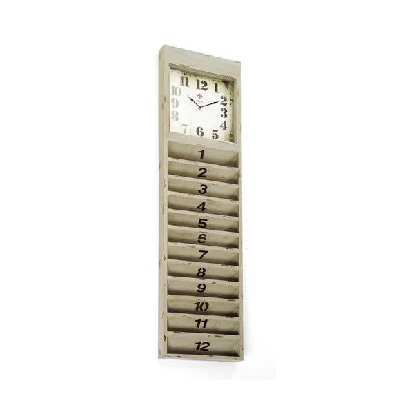 Zegar ścienny z przegródkami na listy Cartolina