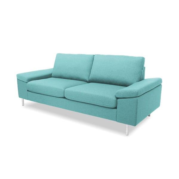 Jasnoturkusowa sofa dwuosobowa VIVONITA Nathan