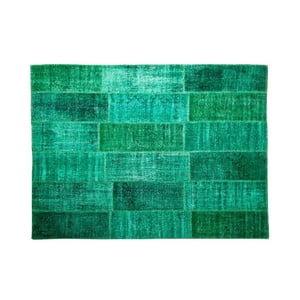 Dywan wełniany Allmode Green, 150x80 cm