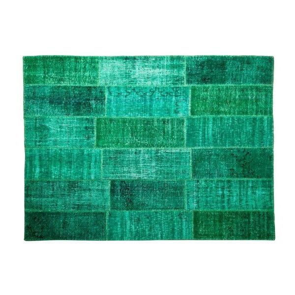 Dywan wełniany Allmode Green, 180x120 cm