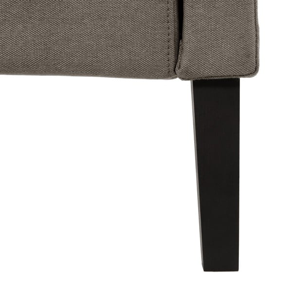 Szare łóżko z czarnymi nóżkami Vivonita Windsor, 140x200 cm