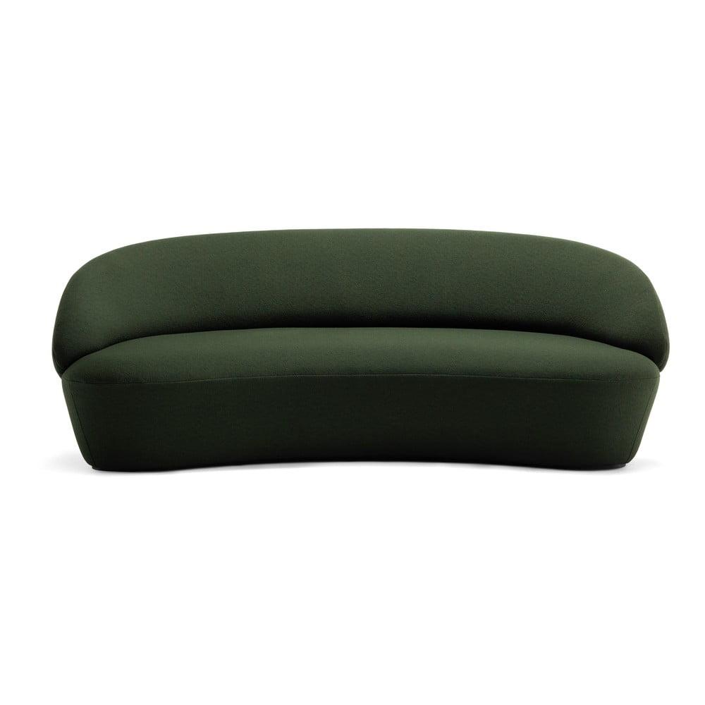 Zielona wełniana sofa EMKO Naïve, 214 cm