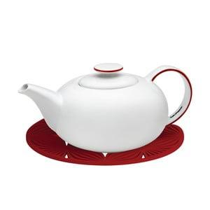 Biały dzbanek na herbatę z czerwonymi szczegółami Salt&Pepper Madison, 1,2 l