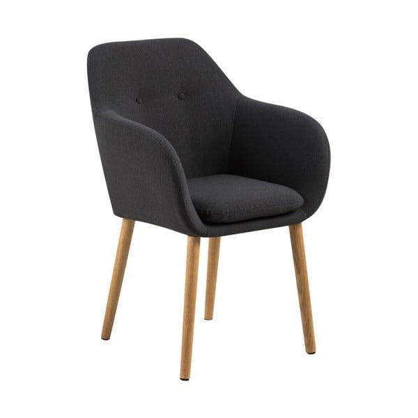 Ciemnoszare krzesło Actona Emilia