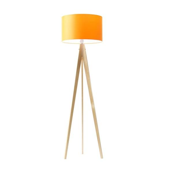 Lampa stojąca Artist Orange/Birch, 125x42 cm