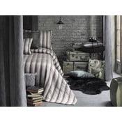 Zestaw narzuta i 2 poszewki na poduszkę Apolena Luxury, szary