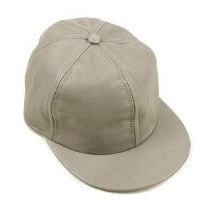 Skórzana czapka z daszkiem Nappa 6 Ivory