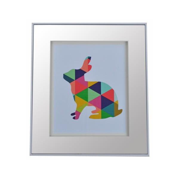 Lustro z kolorowym motywem Rabbit, 30x35 cm