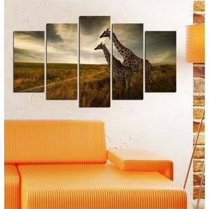 5-częściowy obraz Żyrafy