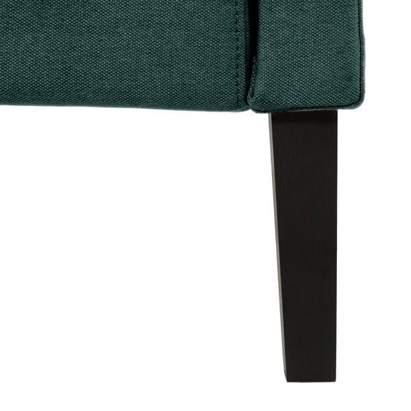 Ciemnoturkusowe łóżko z czarnymi nóżkami Vivonita Windsor, 140x200 cm