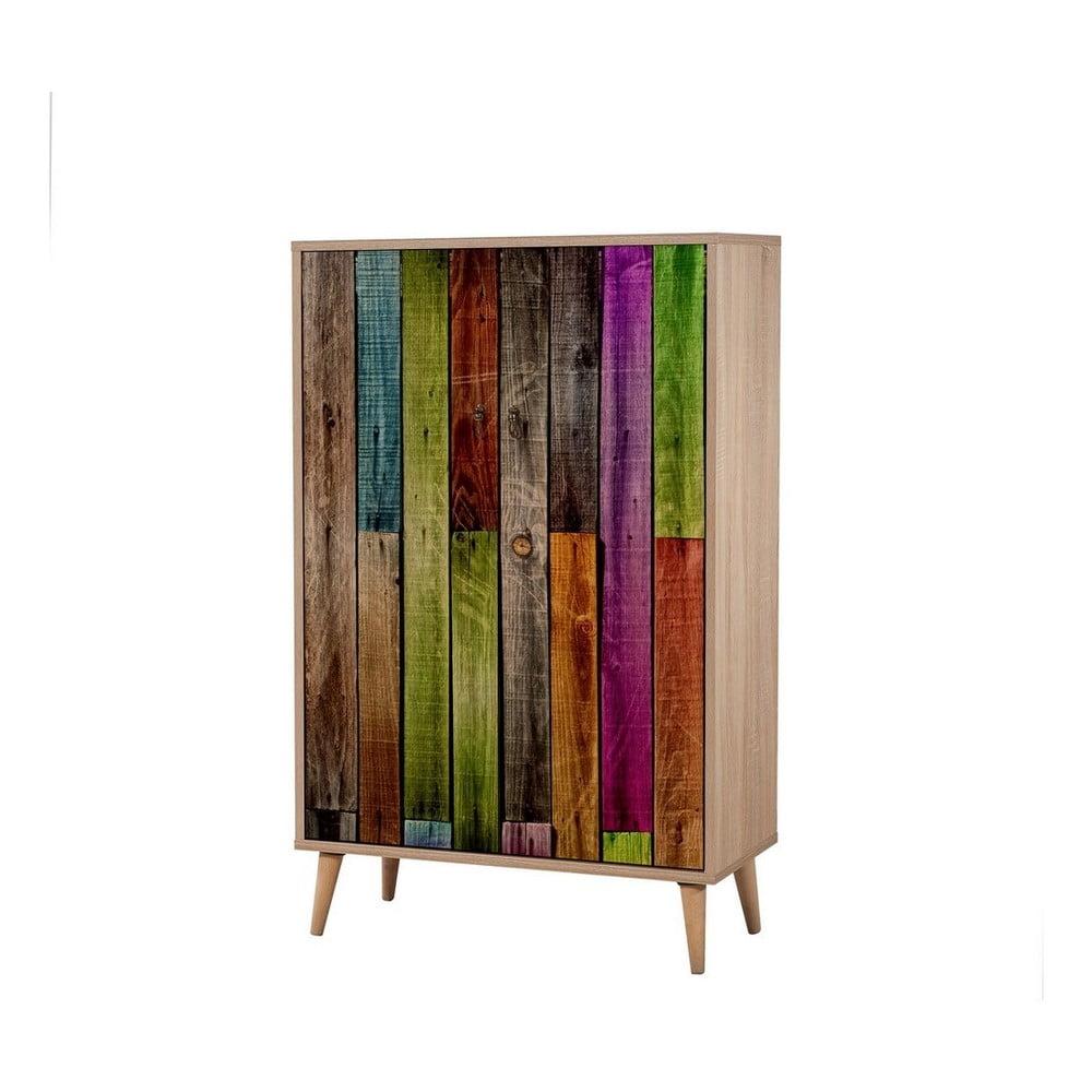 Szafa drewniana Ananias Rainbow, wys. 127 cm