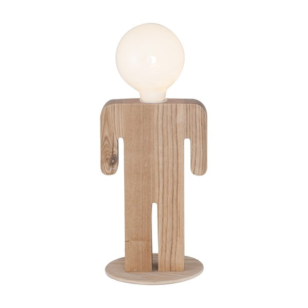 Drewniana lampa stołowa Homemania Christian