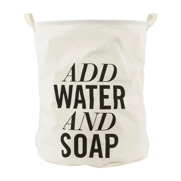 Płócienny kosz na pranie House Doctor Add Water and Soap