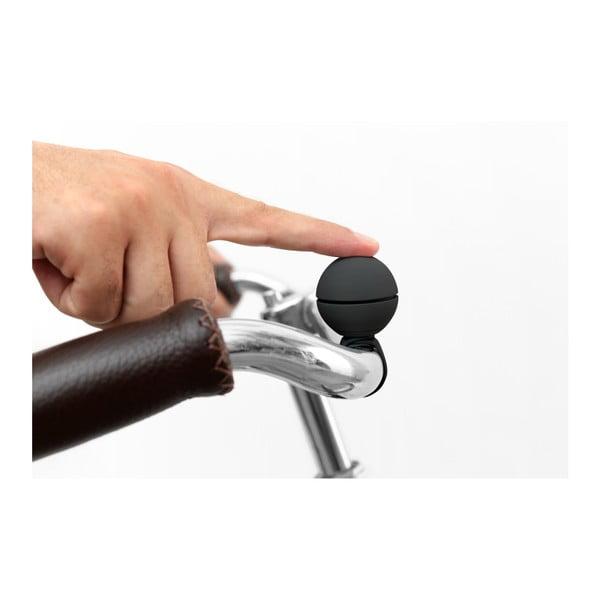 Czarny dzwonek rowerowy na magnes Palomar Nello