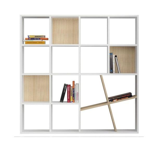 Biblioteczka Honey, biało-brązowa