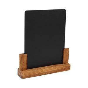 Tablica ze stojakiem z drewna akacjowego   T&G Woodware Rustic, výška 24 cm
