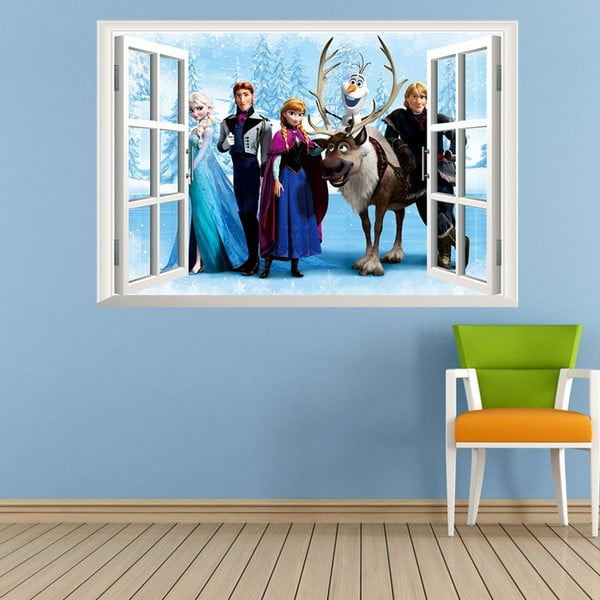 Naklejka z efektem 3D Fanastick Frozen