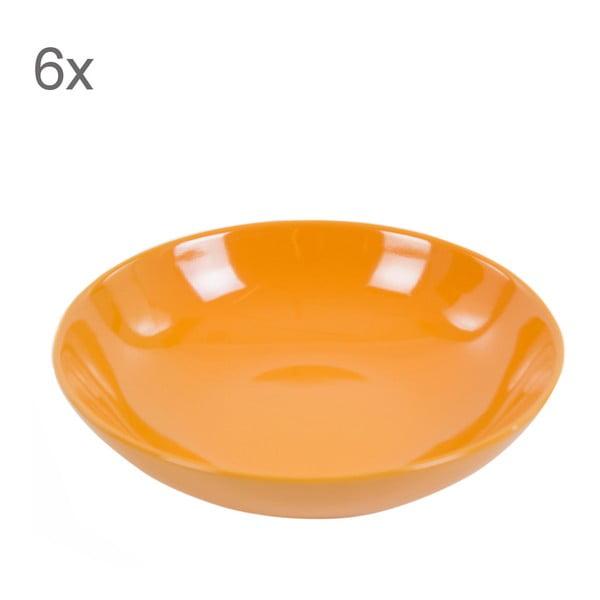 Zestaw 6 talerzy Kaleidoskop 21 cm, pomarańczowy