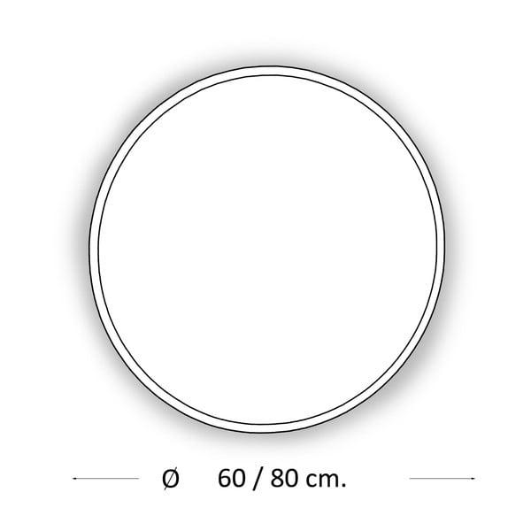Lustro z oświetleniem LED Metro, Ø80 cm