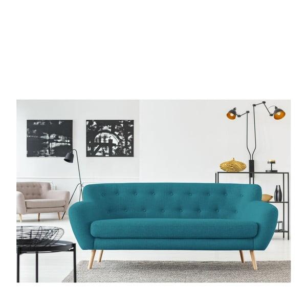 Turkusowa sofa 3-osobowa Cosmopolitan design London