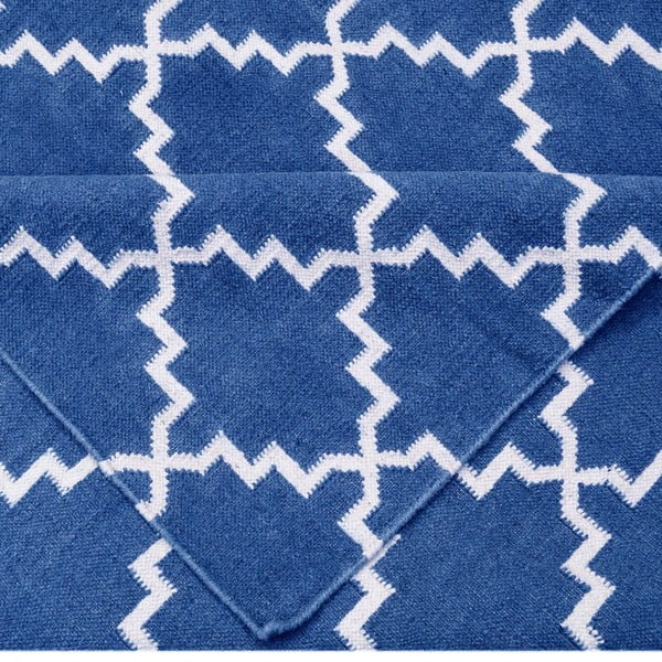 Ciemnoniebieski dywan wełniany Bakero Eugenie, 240x155cm