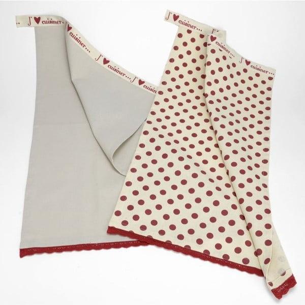 Zestaw ścierek kuchennych J´m la cusine, 48x70 cm, 2 szt.