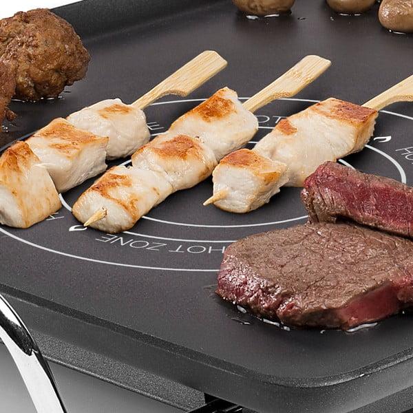 Czarny elektryczny grill stołowy Princess Table Chef Hot-Zone, moc 2500W