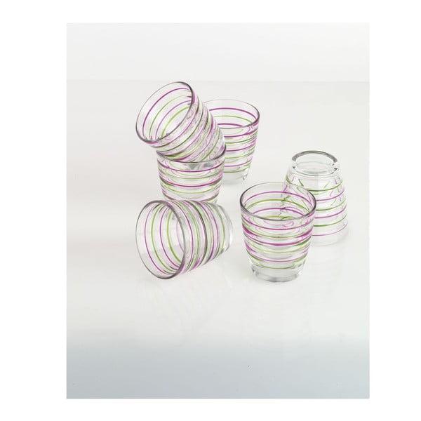 Zestaw szklanek Colored Rings, 6 sztuk