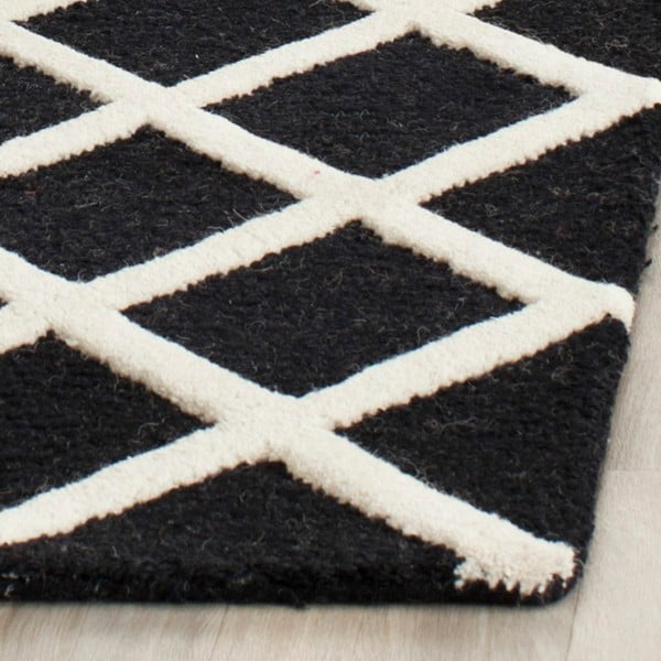 Dywan wełniany Sophie Black, 152x243 cm