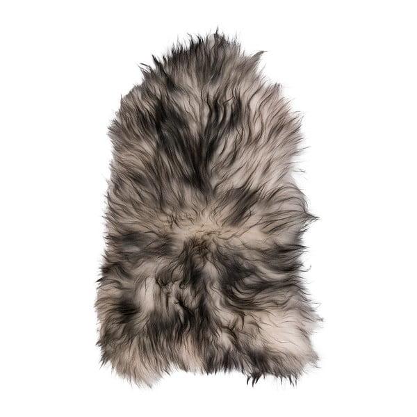 Jasna skóra owcza z długim włosiem Dark tops, 100x60 cm
