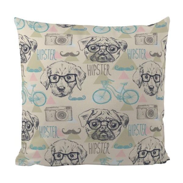 Poduszka Hipster Dog, 50x50 cm