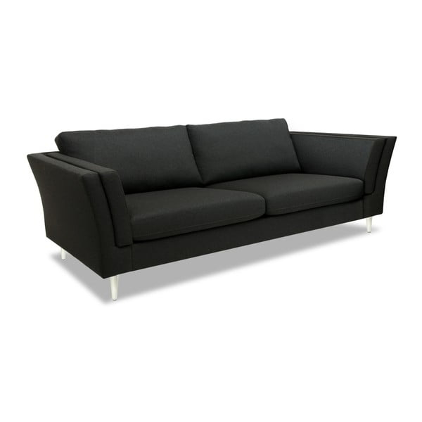 Antracytowa sofa 3-osobowa Vivonita Connor