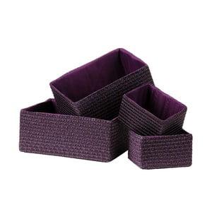 Zestaw 4 koszyków Purple