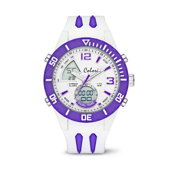 Zegarek Colori Anadigi 48 White Neon Purple