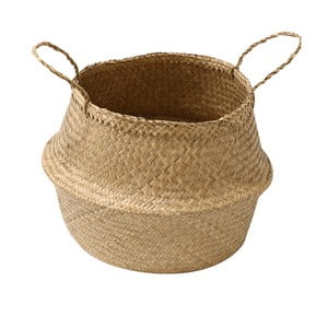 Jasny koszyk z trawy morskiej Compactor, ⌀ 45 cm