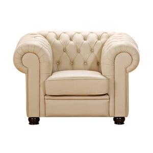 Beżowy fotel skórzany Max Winzer Chandler