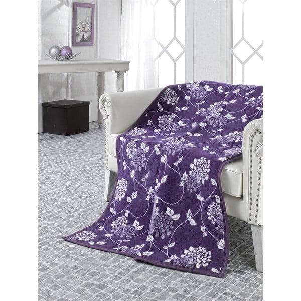 Koc Floral Purple, 180x220 cm