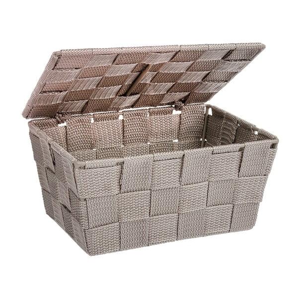 Brązowy koszyk zamykany Wenko Adria