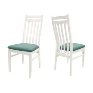 Białe krzesło z konstrukcją z drewna brzozowego Canett Geranium