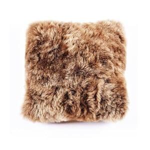 Brązowa poduszka futrzana z krótkim włosiem Rusty, 35x35 cm