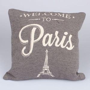 Poszewka na poduszkę Paris in Grey, 40x40 cm