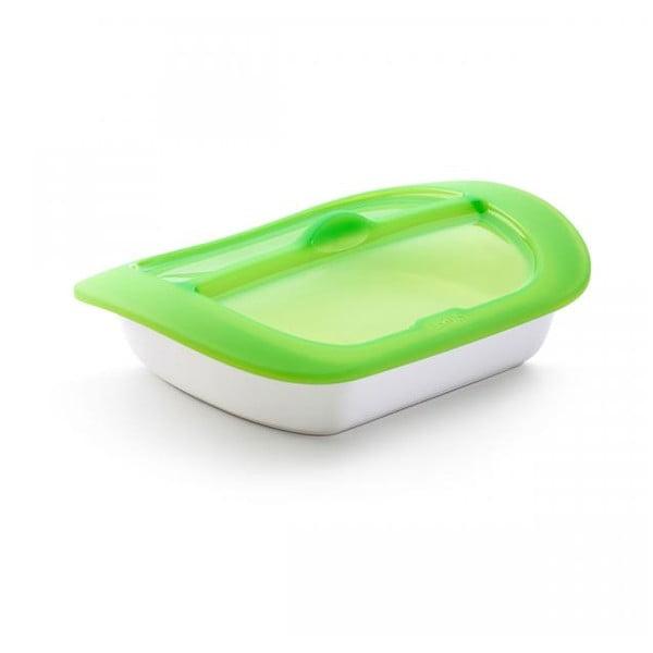 Ceramiczna forma do pieczenia z silikonową pokrywką Stream&Roast, 34x23 cm