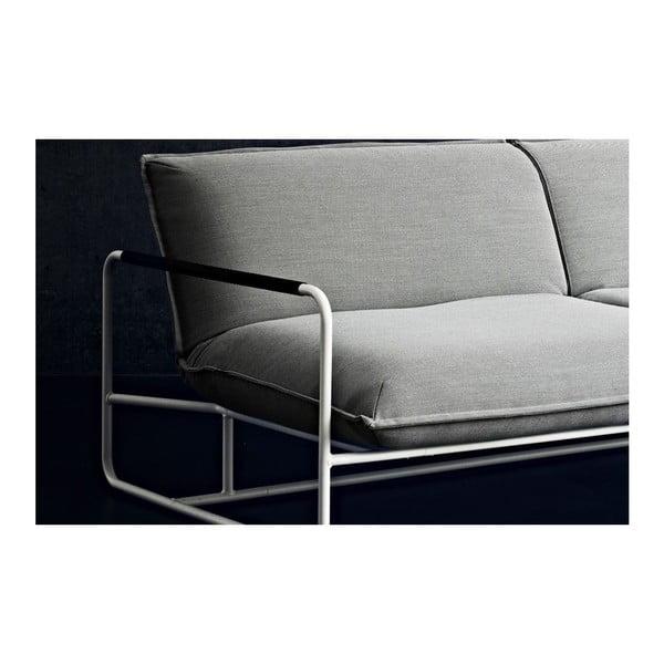 Ciemnoszara sofa Softline Nova